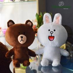Gấu bông Brown và thỏ Cony size 30cm