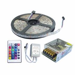 Bộ đèn LED dây dán đổi 7 màu loại 5m loại 5050