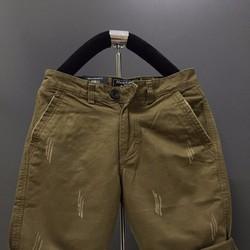 KX09 - Quần short kaki nam form body xước màu xanh nâu hàng cao cấp