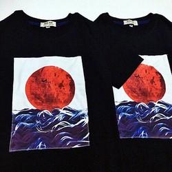 Áo thun T-Shirt hình mặt trời đỏ