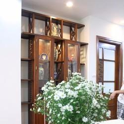 Tủ trang trí âm tường gỗ tự nhiên 5TT022