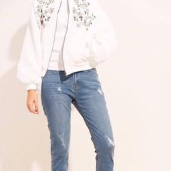 Quần jean BOYFRIEND rách cao cấp, quần jeans nữ form chuẩn