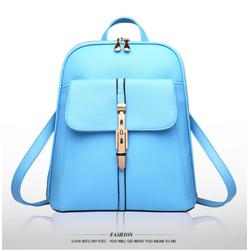 Balo da nữ Wii Shop màu xanh da trời trẻ trung – W318