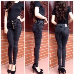 Quần Jeans Nữ 2da Cao Cấp Màu Xám