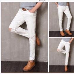 Quần jean nam 2 da trắng hot