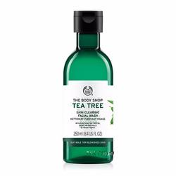 SỮA RỬA MẶT DẠNG GEL THE BODY SHOPP TEA TREE SKIN CLEARING FACIAL WASH