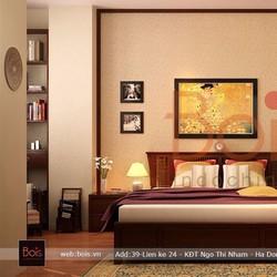Giường ngủ gỗ tự nhiên 3GN013
