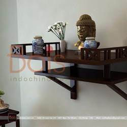 Bàn thờ treo gỗ tự nhiên 1BT010