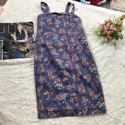 Đầm thiết kế suông hai dây họa tiết hoa