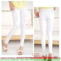 Quần jean trắng sước phong cách trẻ trung QD147