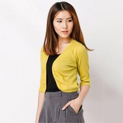 Áo khoác lửng Cardigan 2016 - Vàng