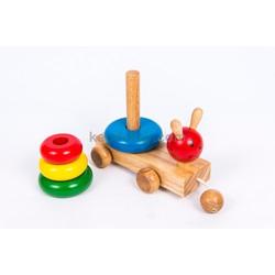 Đồ chơi gỗ cho trẻ em | Tháp kéo ốc sên bằng gỗ