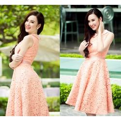 Đầm ren xòe cổ sen Phương Trinh
