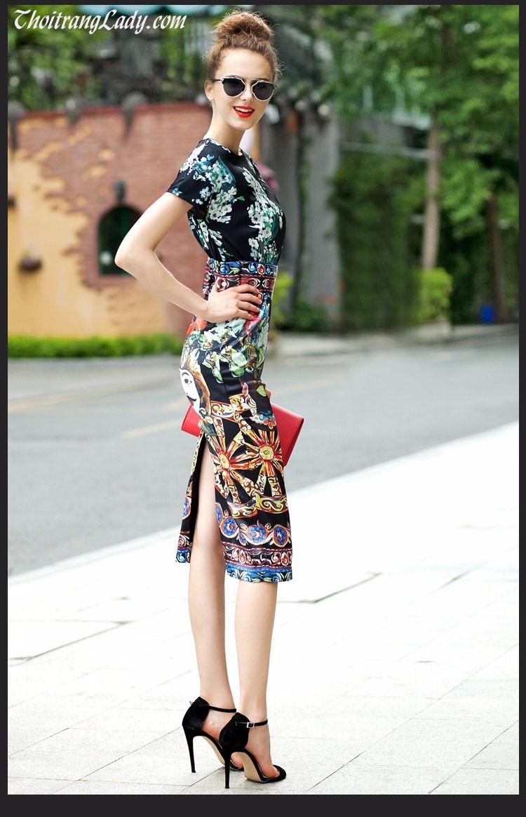 Đầm phong cách Châu âu DV434 3