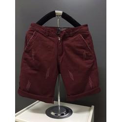 KX03 -Quần short kaki nam form body xước màu đỏ đô hàng cao cấp