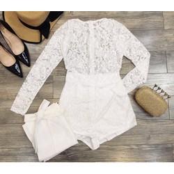 Jumpsuit short ren đính hạt váy cột _MỎ CHU SHOP