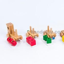 Đồ chơi gỗ cho trẻ em   Xe lửa chở khối