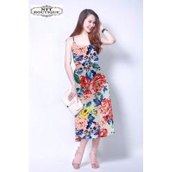 Đầm maxi họa tiết cực xinh