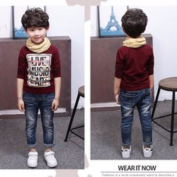 Bộ jean in chữ cá tính cho bé NX815