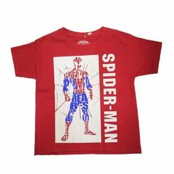 Áo thun thời trang cho bé trai Spiderman Đỏ Trắng- Tay ngắn