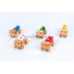Đồ chơi gỗ cho trẻ em   5 xe chở khối