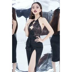 Đầm ôm body phối lưới sexy D760