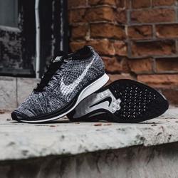 Giày sneaker thể thao N-FlyknitRacer oreo đen trắng, hot