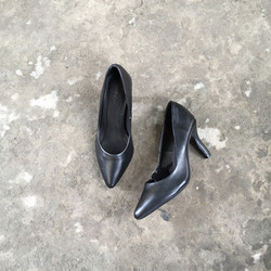 Giày cao gót nữ da thật dành cho nhân viên văn phòng