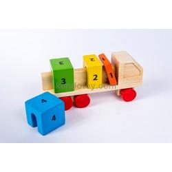 Đồ chơi gỗ cho trẻ em | Xe tải học toán