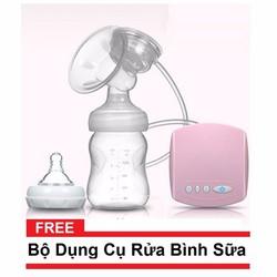 Máy hút sữa điện đơn cao cấp tặng kèm bộ dụng cụ rửa bình sữa