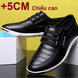 Giày da tăng chiều cao 5CM dáng thể thao