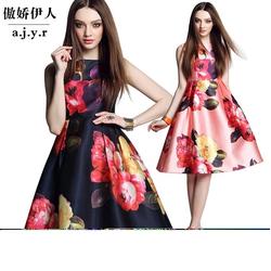 HÀNG LOẠI 1 : Đầm xòe in hoa cao cấp LIOR