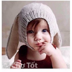 Mũ tai thỏ cho bé xinh