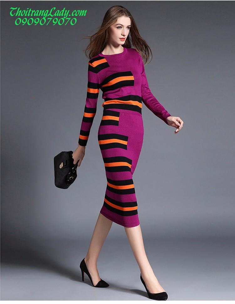 Đầm ôm len dệt kim DV435 7
