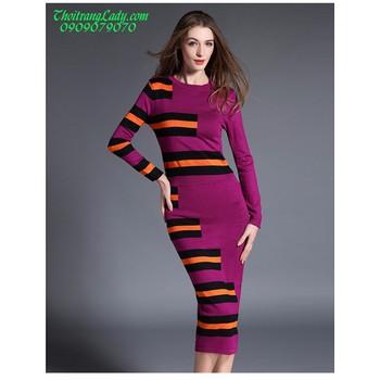 Đầm ôm len dệt kim DV435