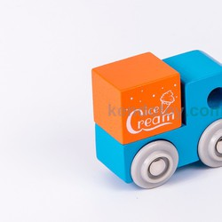 Đồ chơi gỗ cho trẻ em | Xe bán kem