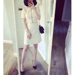 Đầm xòe tay con viền ren trắng - 6108.DZO