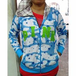áo khoác có nón vải thun cotton, cho nữ dưới 50kg