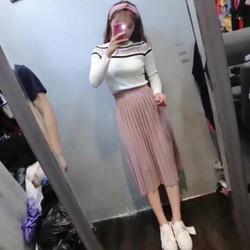 Chân váy dài xếp li cực xinh