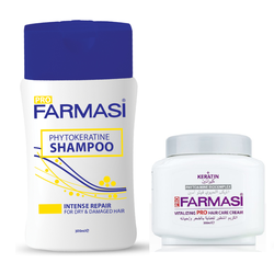 Bộ chăm sóc và phục hồi tóc hư tổn Farmasi Keratin