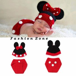 nón len đan tay hình chuột mickey dễ thương cho trẻ mẫu chụp hình