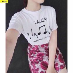 áo thun chữ la la la