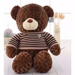 Gấu Teddy bông siêu mịn 1m nâu đen gòn loại 1