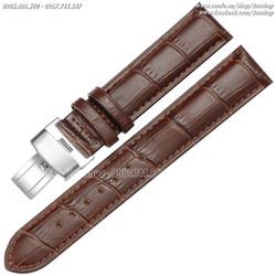 Dây đồng hồ da bê khóa bướm 18mm 20mm 22mm - Mã số: D1615
