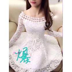 Đầm xoè ren cực đẹp