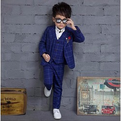 Bộ vest cao cấp cho bé trai từ 2 đến 10 tuổi 2016 - Q8611