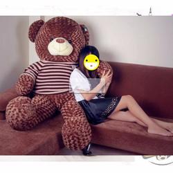 Gấu bông Teddy lông siêu mịn 1m6 màu nâu đen gòn loại 1