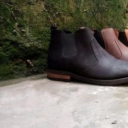 Giày cao cổ nam da bò cao cấp chelsea boots