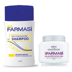 Bộ 2 sản phẩm chăm sóc và phục hồi tóc hư tổn Farmasi Keratin