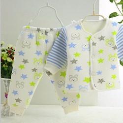 Bộ bông trần ấm  0-9 tháng - quần áo sơ sinh